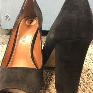 Shoes - Black thick heel